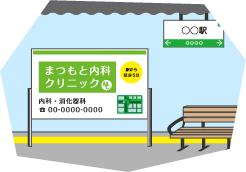 案内・誘導を主目的として、最寄り駅に広告する場合